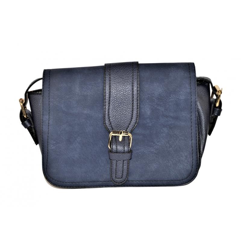 Дамска чанта в тъмно синьо 002