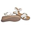 Дамски сандали на платформа в бяло 688-2