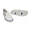 Дамски гуменки без връзки в бяло и синьо 308005-BL