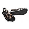 Дамски сандали в бронзово и черно PU888-6