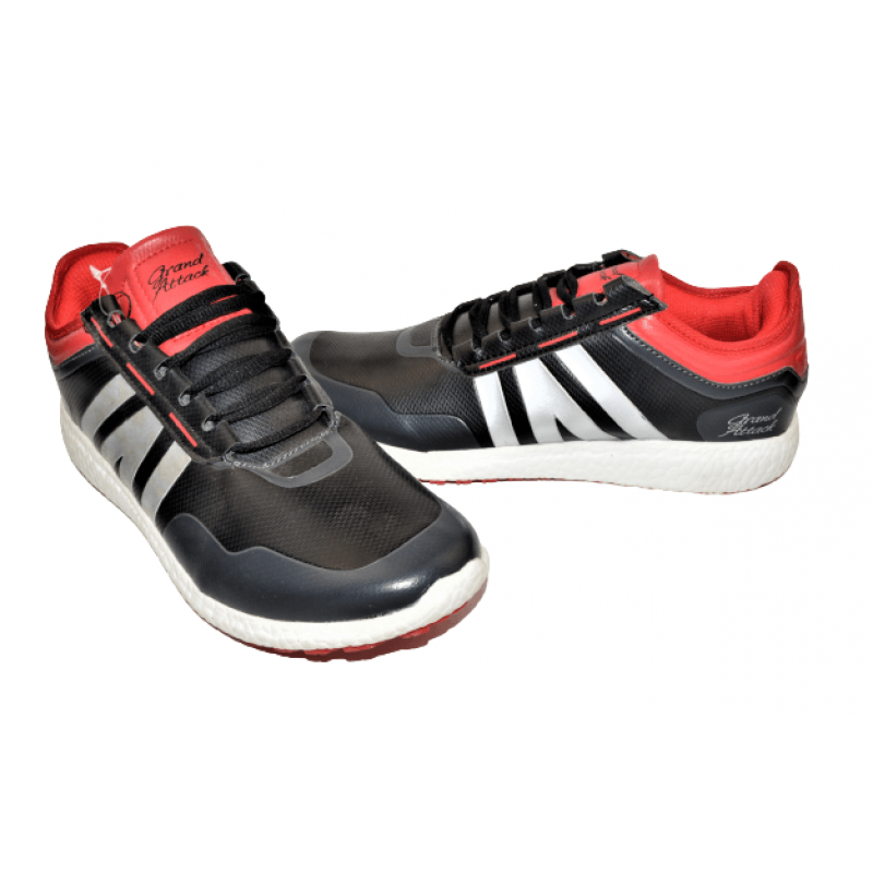 Мъжки маратонки в черно с червено 30175-2