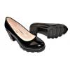 Дамски елегантни обувки на ток в черно 3082-BK