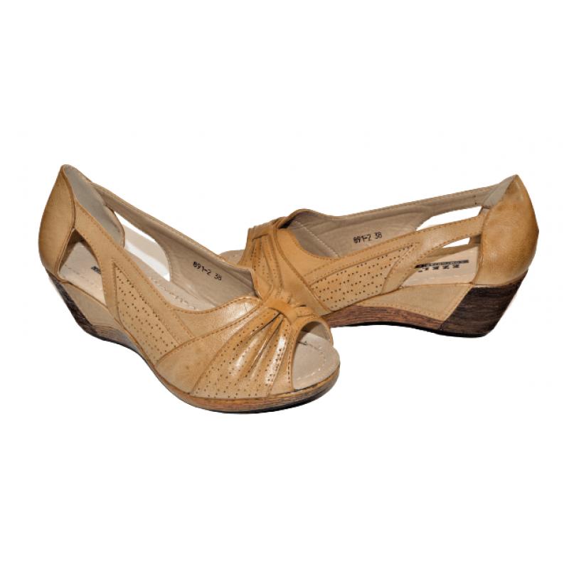 Дамски отворени обувки в кафяво 891-2