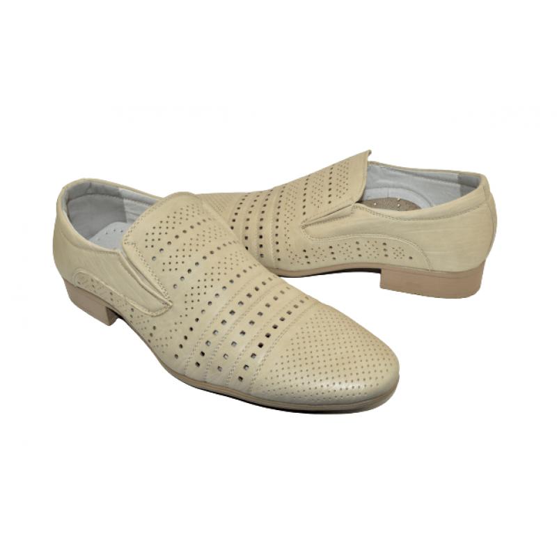 Мъжки елегантни обувки в бежово 14-9085
