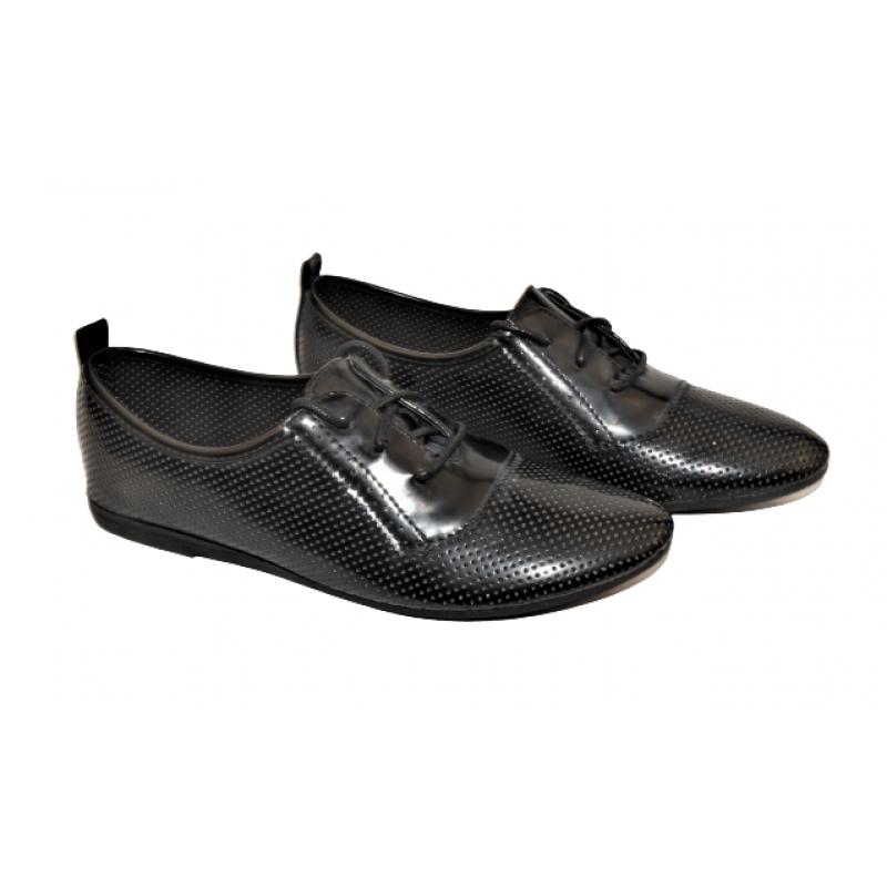 Дамски обувки в черно LE52-1