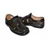 Мъжки затворени сандали в черно 3871-1