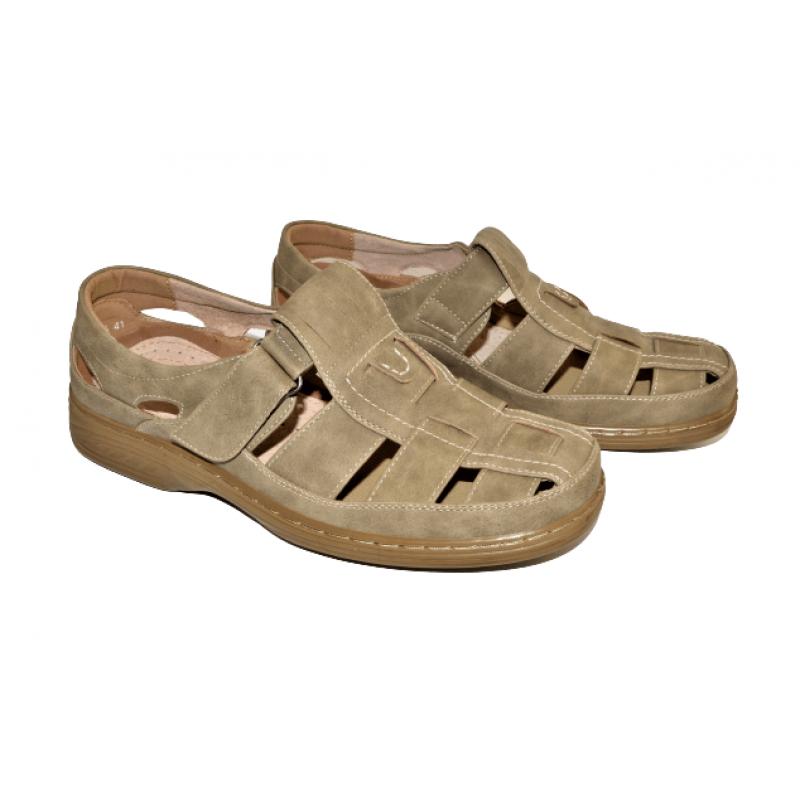 Мъжки затворени сандали в бежово 3871-6