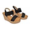 Дамски сандали на платформа в черно 6440-1