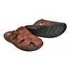 Мъжки затворени чехли в кафяво D85-8