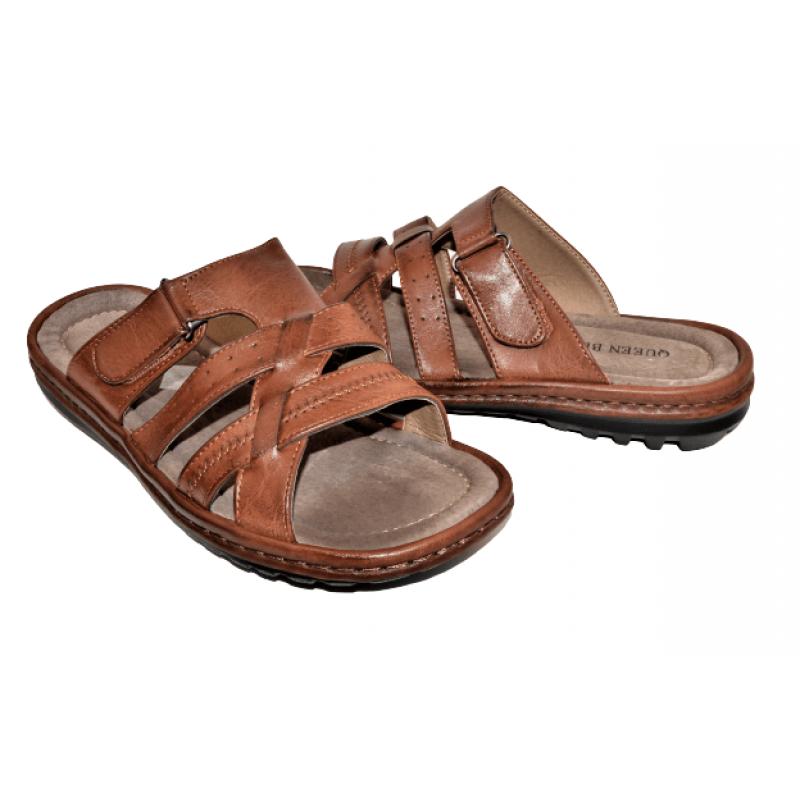Мъжки чехли в кафяво D95-22