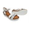 Дамски сандали на платформа в бяло W980-2