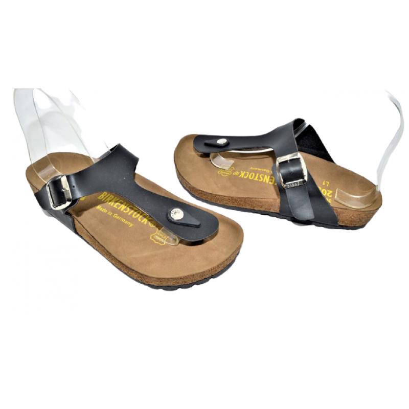 Дамски чехли с прашка в черно 533