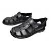 Мъжки затворени сандали в черно 21