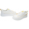 Дамски кецове в бяло с жълто 164