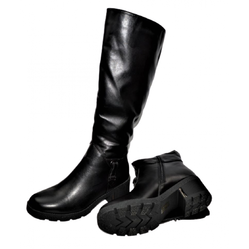 Дамски ботуши в черно 399