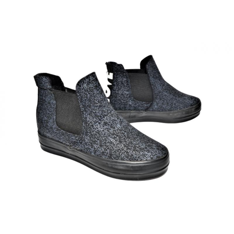 Дамски обувки на платформа в тъмно синьо 289